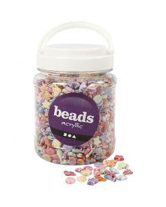 Pastel Mix, size 9-12 mm, hole size 1,2 mm, 700 ml/ 1 tub