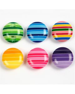 Deco Buttons, D: 14 mm, 24 pc/ 1 pack