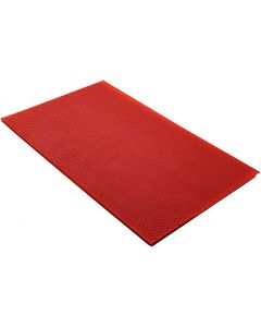Beeswax Sheets, size 20x33 cm, thickness 2 mm, red, 1 pc