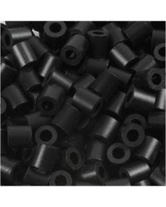 Fuse Beads, size 5x5 mm, hole size 2,5 mm, medium, black (32220), 6000 pc/ 1 pack