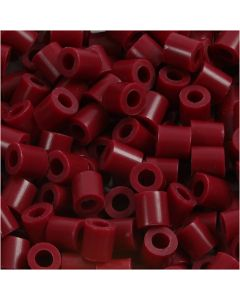 Fuse Beads, size 5x5 mm, hole size 2,5 mm, medium, claret (32239), 1100 pc/ 1 pack