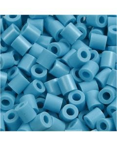Fuse Beads, size 5x5 mm, hole size 2,5 mm, medium, turquoise (32256), 6000 pc/ 1 pack