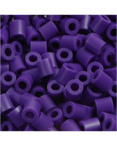 Fuse Beads, size 5x5 mm, hole size 2,5 mm, medium, dark purple (32234), 1100 pc/ 1 pack