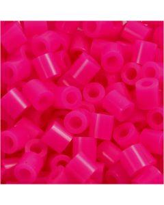 Fuse Beads, size 5x5 mm, hole size 2,5 mm, medium, cerise (32258), 6000 pc/ 1 pack