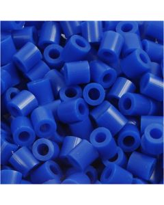 Fuse Beads, size 5x5 mm, hole size 2,5 mm, medium, dark blue (32232), 6000 pc/ 1 pack