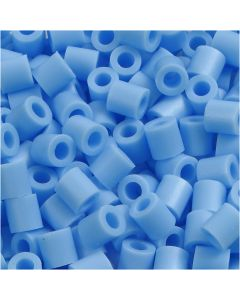 Fuse Beads, size 5x5 mm, hole size 2,5 mm, medium, pastel blue (32224), 6000 pc/ 1 pack
