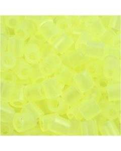 Fuse Beads, size 5x5 mm, hole size 2,5 mm, medium, neon yellow (32223), 1100 pc/ 1 pack