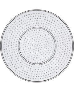 Peg Board, Large round, D: 15 cm, transparent, 1 pc