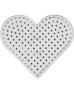 Peg Board, heart, JUMBO, transparent, 1 pc