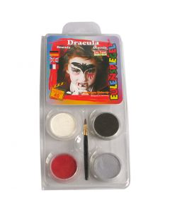Eulenspiegel Face Paint - Motif Set, dracula, assorted colours, 1 set