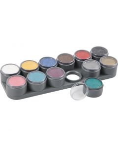 Water-based Face Paint Palette, assorted colours, 12x15 ml/ 1 pc