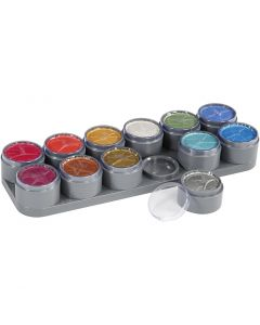 Water-based Face Paint, mother of pearl colours, 12x15 ml/ 1 pc