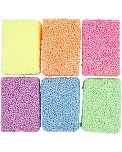 Soft Foam, assorted colours, 6x10 g/ 1 pack