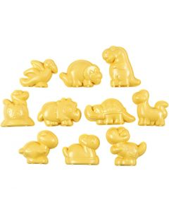 Casting Mould, jurassic valley, size 4,5-6 cm, 10 pc/ 1 pack