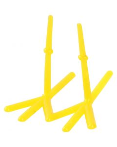 Chicken Feet, H: 28 mm, L: 37 mm, yellow, 50 pc/ 1 pack