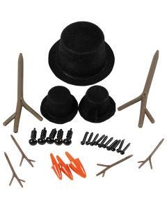 Hats, noses and branches, size 2,3-7 cm, 3 set/ 1 pack