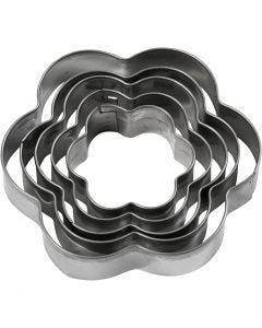 Cookie cutters, flower, size 8 cm, 5 pc/ 1 pack