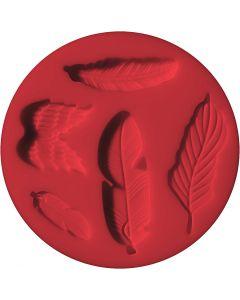 FIMO push mould, fetjers, D: 7 cm, 1 pc