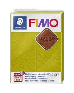FIMO® Leather Effect , olive (519), 57 g/ 1 pack