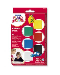 FIMO® Kids Clay, standard colours, 6x42 g/ 1 pack