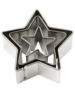 Metal Cutters, star, size 40x40 mm, 3 pc/ 1 pack