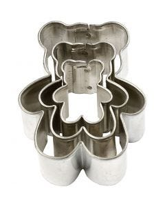 Metal Cutters, bear, size 35x40 mm, 3 pc/ 1 pack