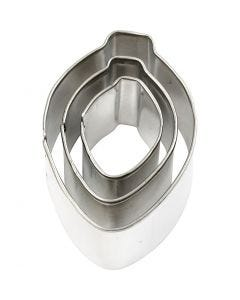 Metal Cutters, ornament, size 30x40 mm, 3 pc/ 1 pack