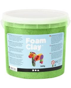 Foam Clay®, metallic, green, 560 g/ 1 bucket