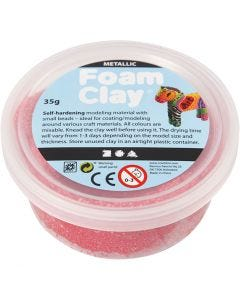 Foam Clay®, metallic, red, 35 g/ 1 tub