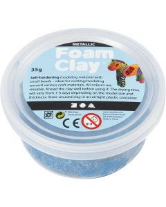 Foam Clay®, metallic, blue, 35 g/ 1 tub