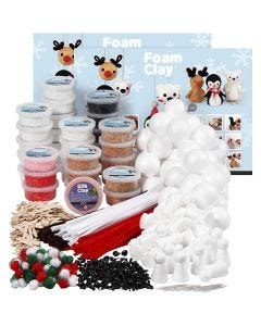 Foam Clay building set, assorted colours, 1 set