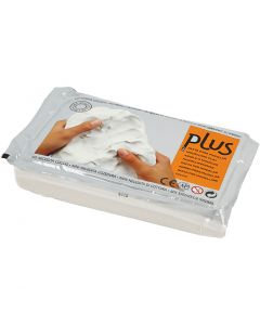 Self-Hardening Clay, white, 1000 g/ 1 pack