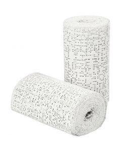 Plaster Bandage, L: 2,7 m, W: 10 cm, 2 roll/ 1 pack