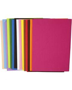 EVA Foam Sheets, A4, 210x297 mm, thickness 2 mm, 30 ass sheets/ 1 pack
