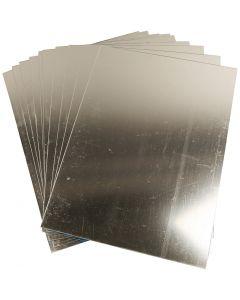 Plastic Mirror, 29,5x21 cm, thickness 1,1 mm, 10 sheet/ 1 pack