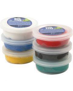 Silk Clay®, assorted colours, 6x14 g/ 1 pack