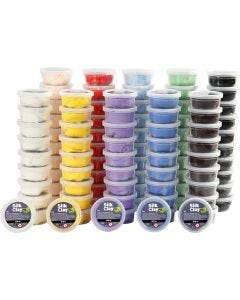 Silk Clay®, assorted colours, 10x10 tub/ 1 pack