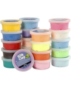 Silk Clay®, assorted colours, 20x40 g/ 1 pack