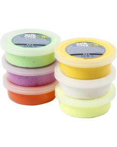 Silk Clay®, Assorted Colours, 14 G, 6 Tub