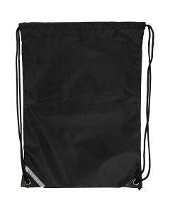 Drawstring bag, size 31x44 cm, black, 1 pc