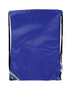 Drawstring bag, size 31x44 cm, blue, 1 pc