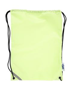 Drawstring bag, size 31x44 cm, fluorescent yellow, 1 pc