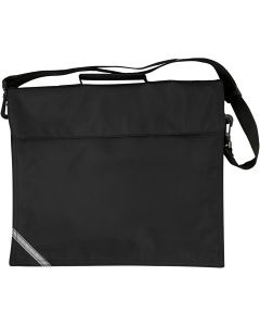 School Bag, size 36x31 cm, black, 1 pc