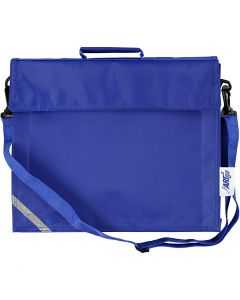 School Bag, size 36x31 cm, blue, 1 pc