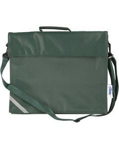 School Bag, size 36x31 cm, green, 1 pc