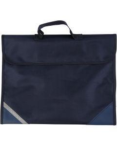 School Bag, size 36x29 cm, dark blue, 1 pc