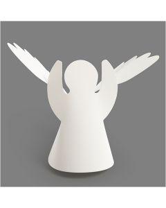 Angels, H: 10,5 cm, D: 7 cm, 230 g, white, 25 pc/ 1 pack