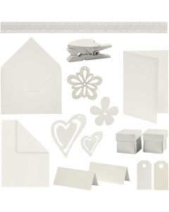 Happy Moments - Card Making Kit, off-white, 160 sales units/ 1 pack