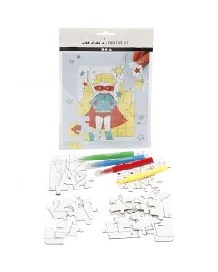 Mini Creative Kit, superhero, white, 1 set