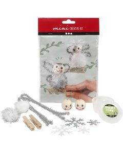Creative mini kit, angels on wooden pegs, 1 set